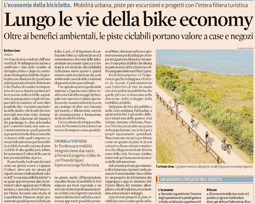 Lungo le vie della bike economy – sole24h 15/05/2018